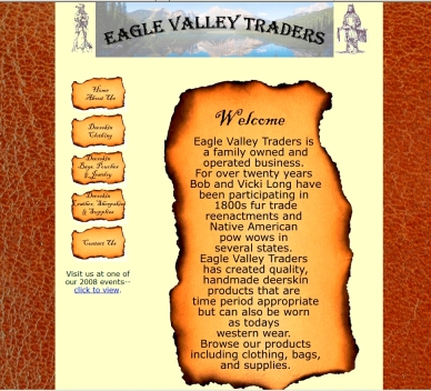 Eagle Valley Traders home page image